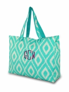 Monogram Ikat Weekender Tote | Embroidered