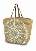 Monogram Jute Tote Bag