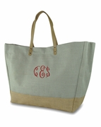 Monogram Ladies Jute Tote Bag