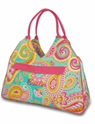Monogram Ladies Summer Paisley Tote Bag