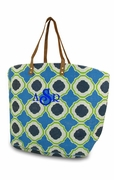 Monogram Large Jute Beach Tote - Honeycomb
