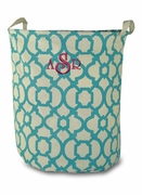 Monogram Laundry Tote Bag | Embroidered
