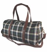 Monogram Overnight Duffel Bag | Tartan Plaid