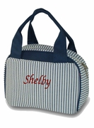 Monogram Pin Stripe Lunch Tote