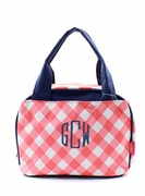Monogram Plaid Check Lunch Bag - Personalized