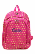Monogram Polka Dot Backpack | Personalized