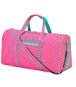Monogram Polka Dot Duffel Bag