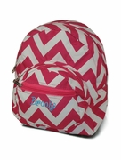 Monogram PreSchool Chevron Backpack
