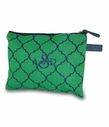 Monogram Quatrefoil Accessory Bag | Personalized