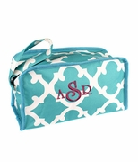 Monogram Quatrefoil Make Up Bag | Personalized