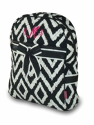 Monogram Quilted Backpack Ikat Print