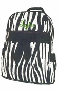 Monogram Quilted Backpack Zebra Print