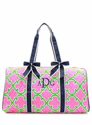 Monogram Quilted Duffel Bag - Quatrefoil