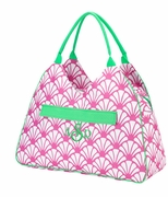 Monogram Shell Pattern Beach Bag