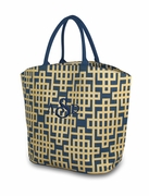 Monogram Shimmer Tote Bag - Geometric