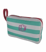 Monogram Stripe Accessory Pouch | Personalized
