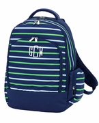 Monogram Stripe Backpack