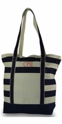 Monogram Stripe Beach Tote Bags | 3 Colors