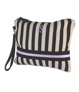 Monogram Striped Accessory Pouch