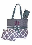 Monogram Stylish Diaper Bag | Embroidered