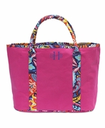Monogram Summer Travel Tote Bag
