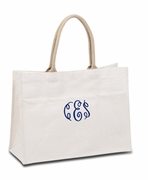 Monogram Wedding Tote Bags | Personalized