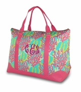 Monogram Weekender Bag - Coral Reef