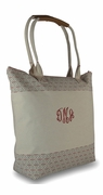 Monogrammed Canvas Beach Totes