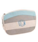 Monogrammed Canvas Cosmetic Bag