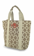 Monogrammed Canvas Tote Bag - Quatrefoil