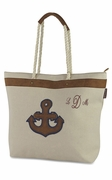 Monogrammed Nautical Carry All Tote