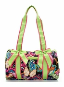 Monogrammed Quilted Butterfly Duffle Bag | Mini Tote