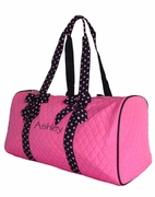 Monogrammed Quilted Duffel Bags