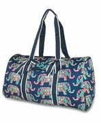 Monogrammed Quilted Duffel Tote - Elephant