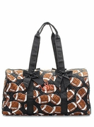 Monogrammed Quilted Duffel Tote - Football