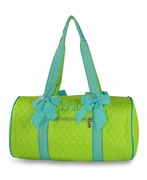 Monogrammed Quilted Duffle Bag
