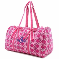 Monogrammed Quilted Gym Duffle