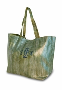Monogrammed Shimmer Tote Bags