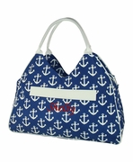 Nautical Anchor Beach Tote Bag
