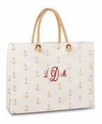 Nautical Anchor Beach Tote Bag | Personalized