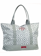 North Carolina State Ikat Tote Bag - Monogrammed