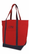 Oversized Dark Canvas Boat Totes   Personalized