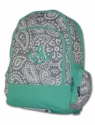 Paisley Backpack | Monogrammed - Personalized