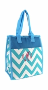 Personalized Chevron Lunch Tote | Embroidered