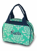 Personalized Damask Lunch Tote