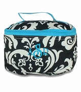 Personalized Damask Pattern Makeup Bags
