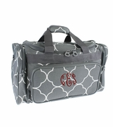 Personalized Duffle Bag Quatrefoil