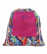 Personalized Floral Laundry Bag - Small