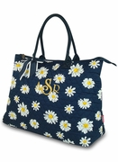 Personalized Floral Tote Bag - Daisy