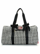Personalized Houndstooth Duffel Tote
